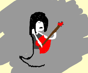 Marceline from Adventure Time playing Guitar