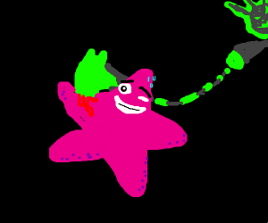 hooked starfish smiles through the pain