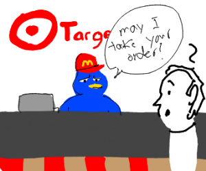blue bird works at a store