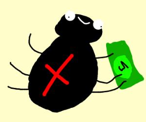 Black widow has money.