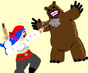 Pirate Nozomi vs. a Bear