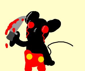 Mickey just stabbed someone n has bloody eyes