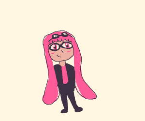 pink girl inkling w/long hair, badass glasses