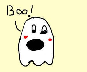 Boo! I'm a spooky ghost!