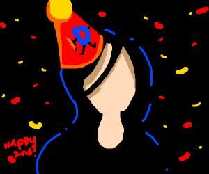Emo Chick Celebrates Drawceptions 2nd B-Day