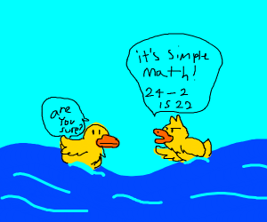 A duckling has figured out math
