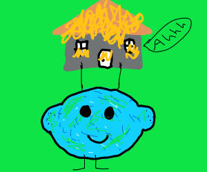 Blue and green lemontryingtoRaiseHousesInFire