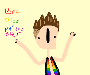 Cool dude shows up to pride parade with swag
