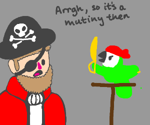 The captains' parrot betrays him