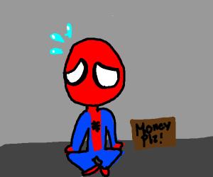Spiderman needs money