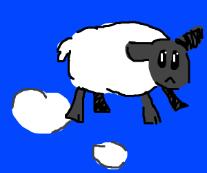 A sheep has ascended to cloud form!