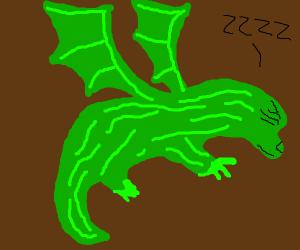 Shhh, the dragon's sleeping...