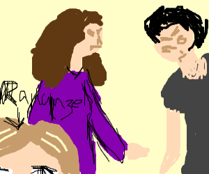 Rapunzel's parents are fighting.