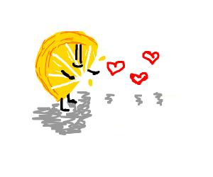 Adorable lemon boi givin love