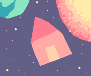 Red House in space