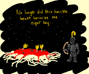 The death of the Flying Spaghetti Monster