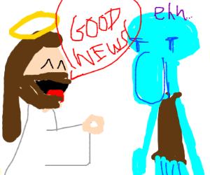 blue guy from spongebob dislikes good news