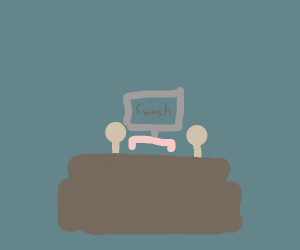 two people sitting on a couch playing smash
