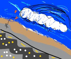 Fishing in tsunami