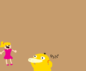 Woman gets scared by Psyduck