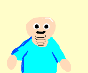 Bald dude with five double chins