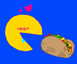 pacman flirts with taco pizza