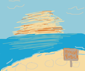 beach but instead of sand they are biscuits