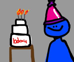 blue b-day boy