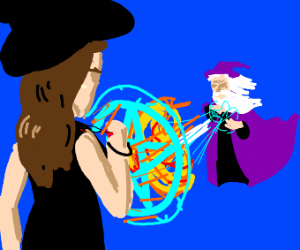 Wizard Battles Witch