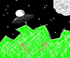 Alien invasion dead guy