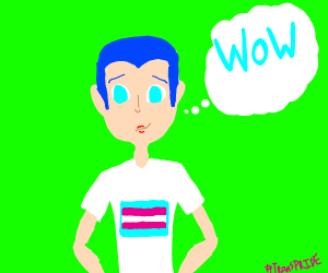 Trans boy is wow'd