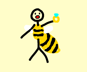 Bee Man has a ring