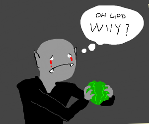 Soulless blood-crying man don't want lettuce