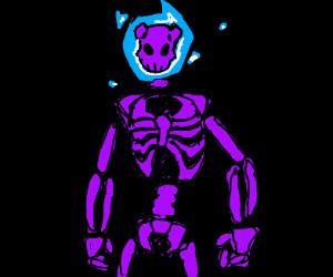 purple skeleton demon