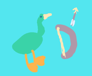 a duck, who is PASSIONATE about bows