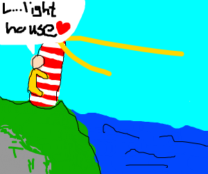 faceless man has an obsession on lighthouses