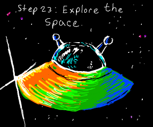 Step 22 : go in the space