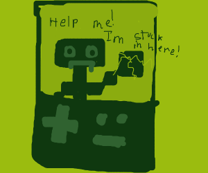 human entering a gameboy world