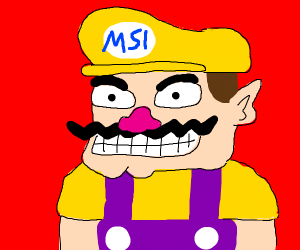 wario has is w upside down on his hat