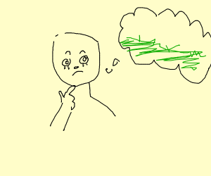 thonking about grass