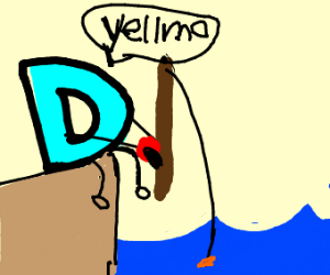 Drawception D fishes for Yellmo
