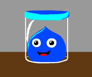 Slime in a jar