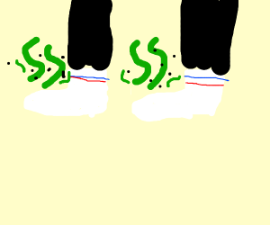guy with smelly socks
