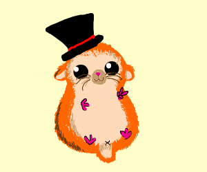 Hamster in tophat