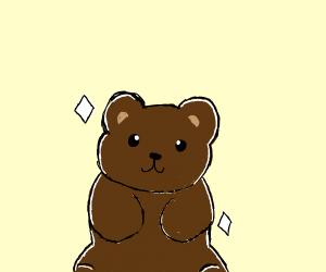 A really, really sparkly bear