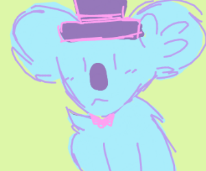 Koala with a tophat