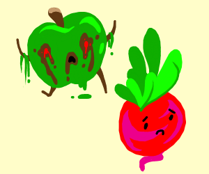 Apple Zombie Chases Radish
