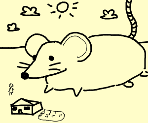An abnormally large rat