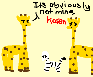 Giraffe dad wants a paternity test