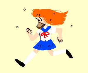 Ginger anime girl.
